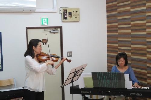 ヴァイオリン中尾さんまちあもりカフェ