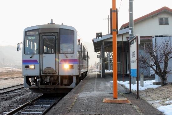 ⑤備後安田駅ホーム