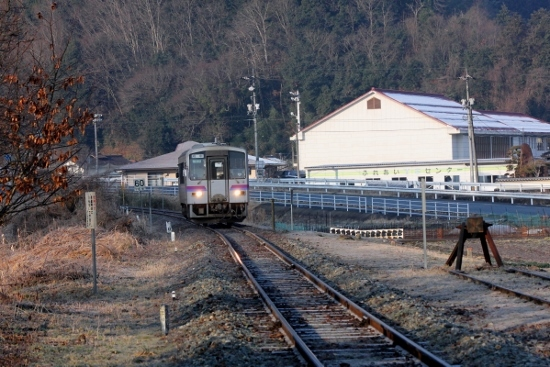 ⑦備後安田上り列車到着