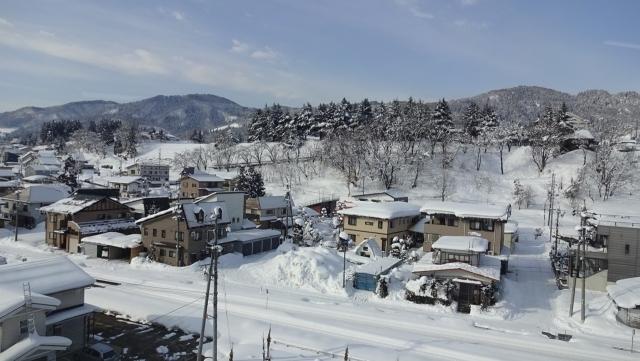 6野沢温泉村着(車窓)