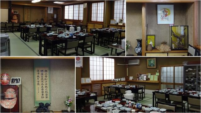 10宿の食堂と床の間