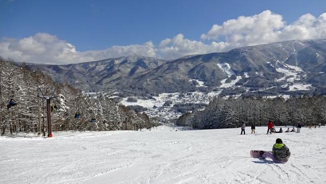 18井富士スキー場を見下す