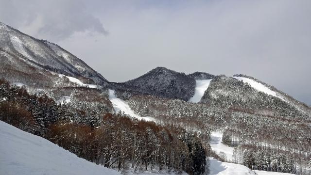 21高井富士スキー場を見渡す