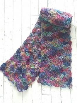 石畳編みのマフラー