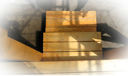 42デッキ階段