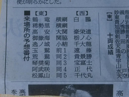 20180129・相撲03・予想番付