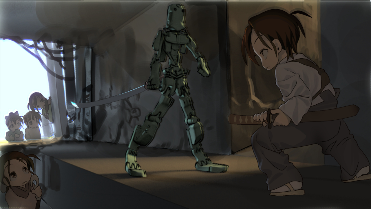 Bipedal walking mecha01