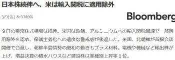 news日本株続伸へ、米は輸入関税に適用除外