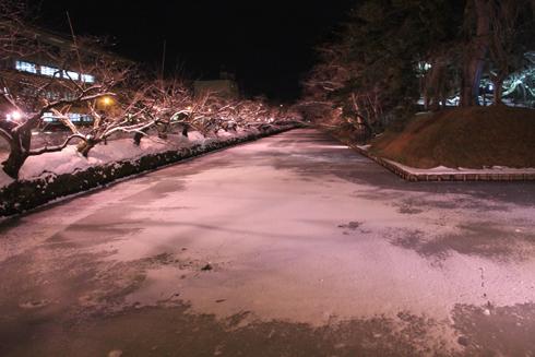 弘前城冬のライトアップ2018-5