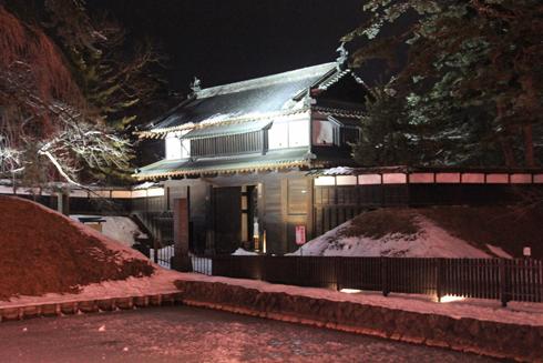 弘前城冬のライトアップ2018-7