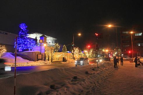 弘前城冬のライトアップ2018-8