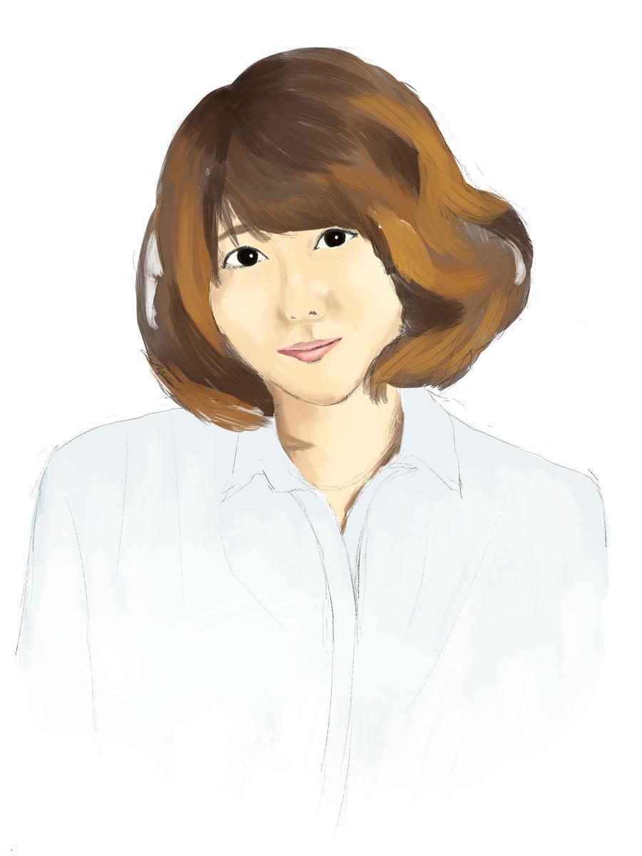 豊崎愛生を描く スケッチ