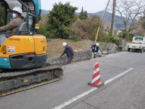 「風返峠十三塚排水路整備工事」⑧