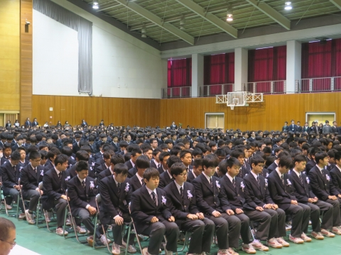 「石岡一高卒業証書授与式」②