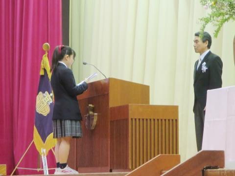 「石岡一高卒業証書授与式」⑧