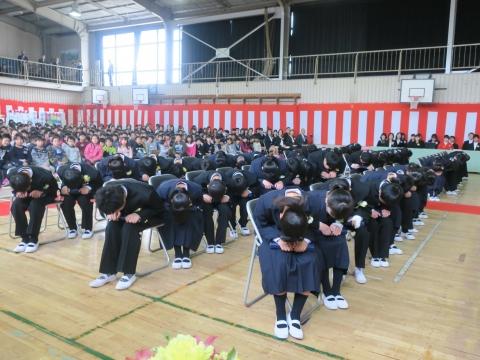 「第73回府中小学校卒業式」 (5)