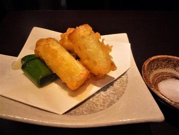 葱の天ぷら