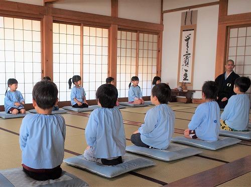 500年少組の坐禅体験1