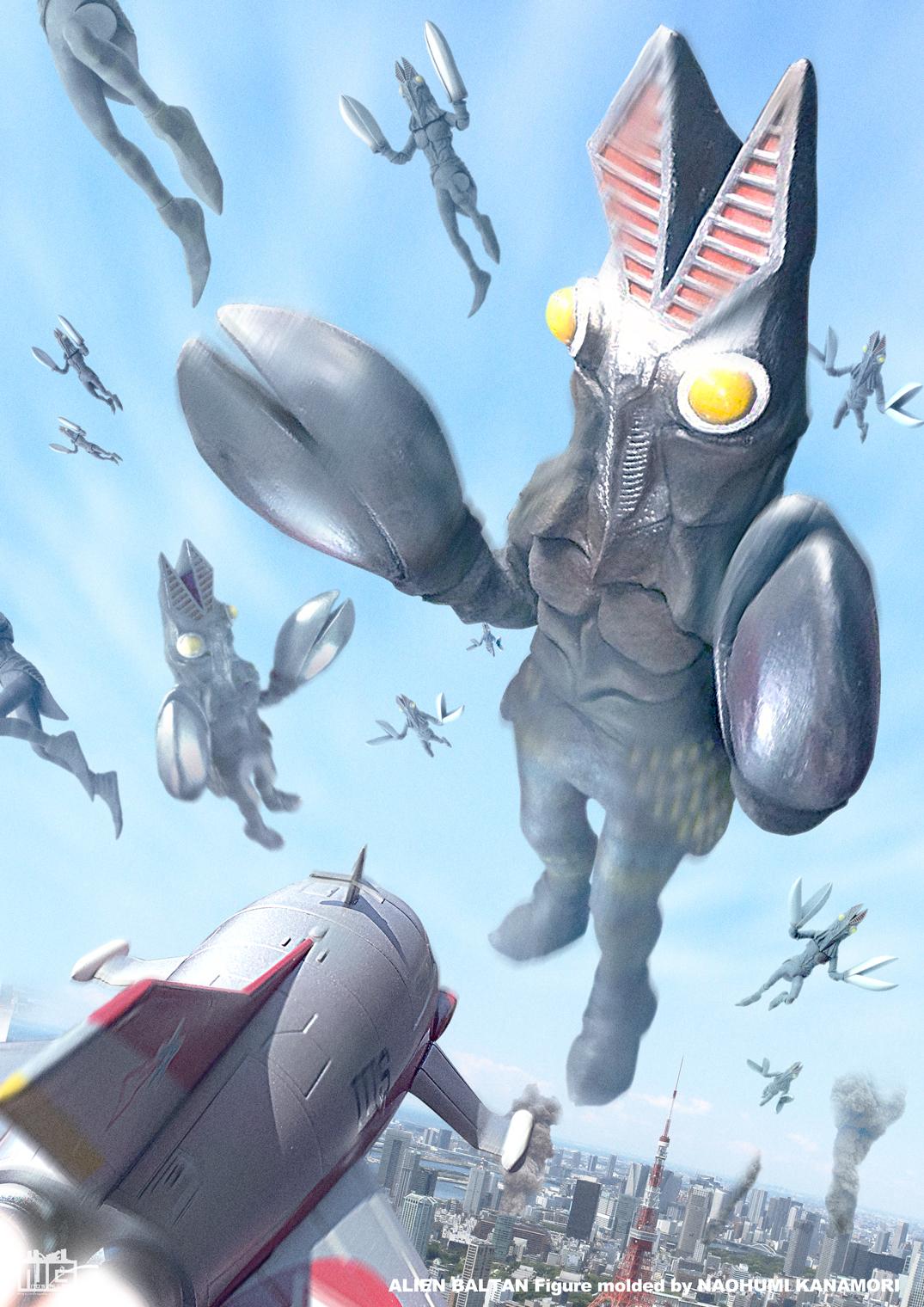 【デジラマ】バルタン星人-空中戦-