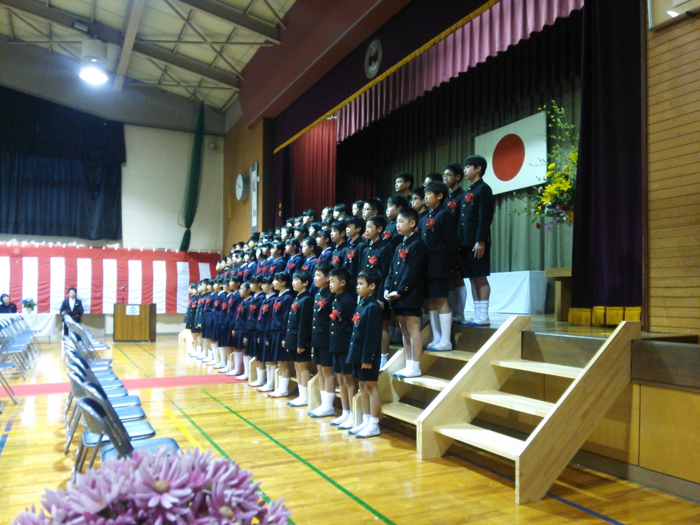 竜川小卒業式2018