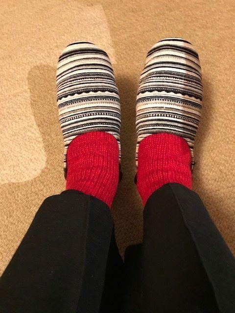 赤い靴下1