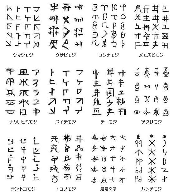竹内文書の文字