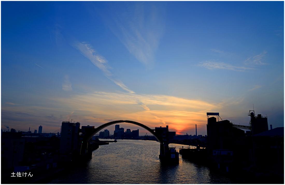 安治川大橋夕景3