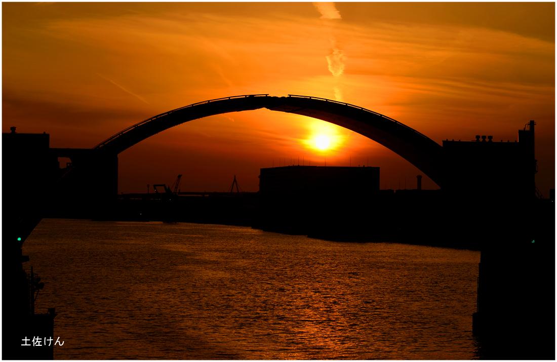 安治川大橋夕景2