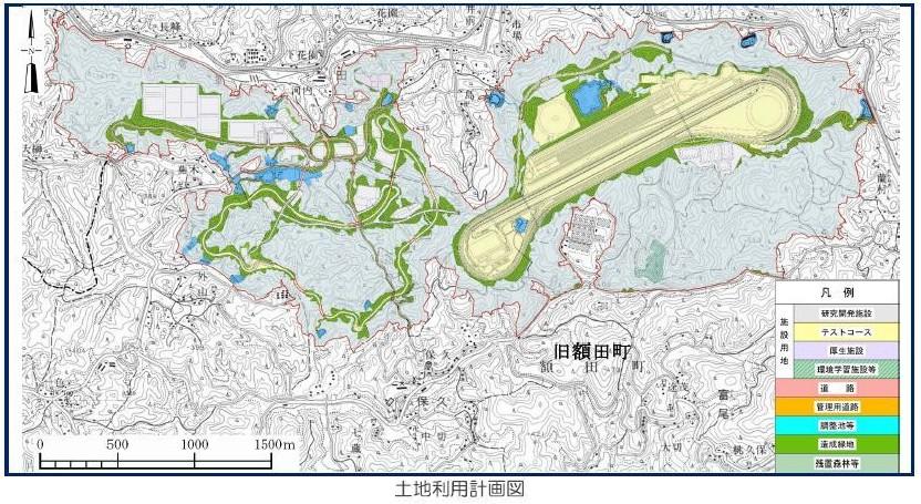トヨタテストコース 愛知県作成地図