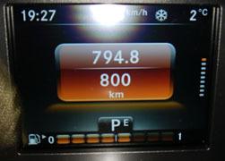 走行800km