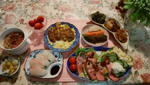 鯛寿司 ローストビーフ&サラダ カツとじ 煮物_おひたし