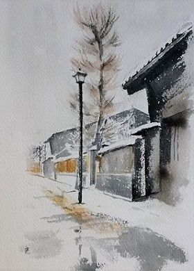 雪解け 富山県 岩瀬,,