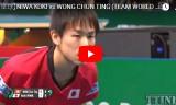 丹羽孝希VS黄鎮廷(準々決勝)チームワールドカップ2018