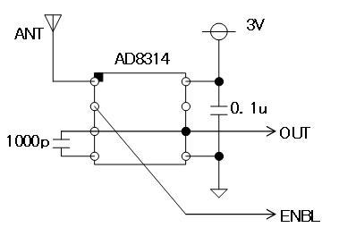 RF+IRチェッカーの製作回路図RFデテクタ