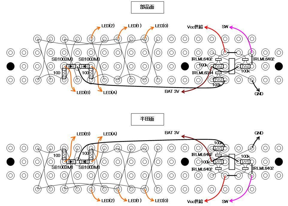 RF+IRチェッカーの製作配線図表示部