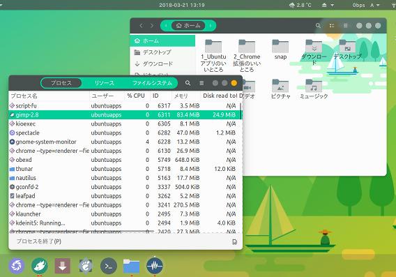 Canta theme Ubuntu GTKテーマ GNOME Shellテーマ