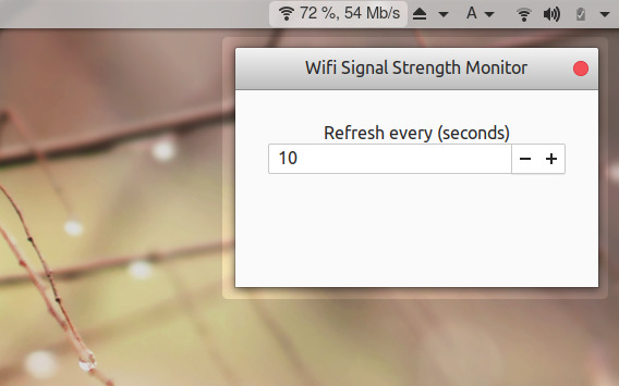 Wifi Signal Strength Monitor GNOME拡張機能 Wifiの電波の強さ 設定