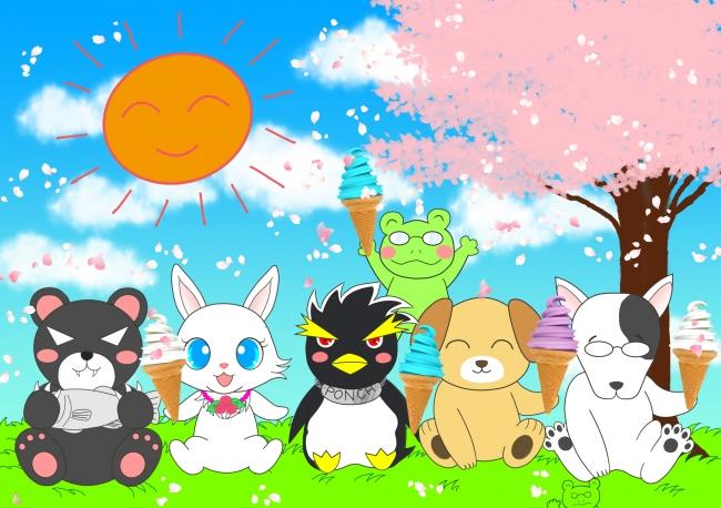 ポンちゃんのコラボ(春)