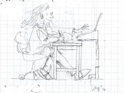 ピアノの先生のデスク①