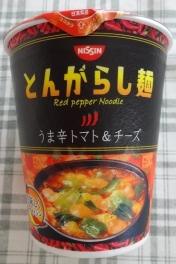 とんがらし麺 うま辛トマト&チーズ 108円