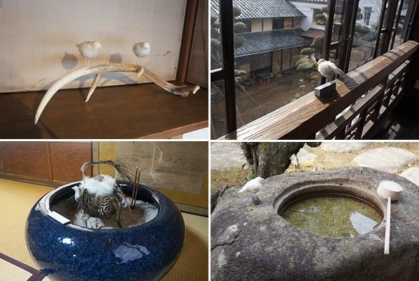 美術家・清水氏による、様々な雀のオブジェクト 4景
