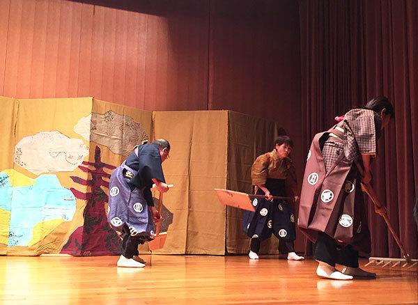 しおさい狂言会による新作狂言『枝条架物語』第一幕・浜子の場面