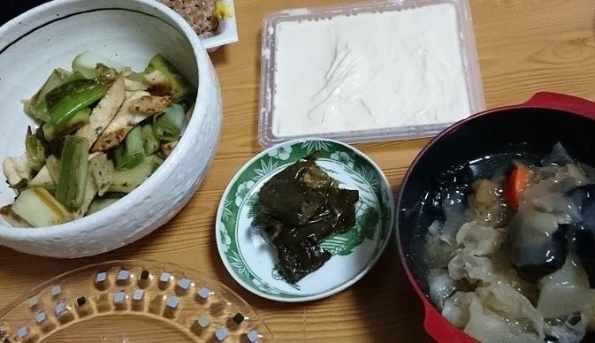 納豆と湯葉と