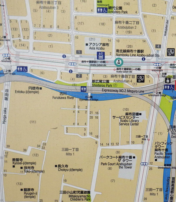 小山町付近の地図