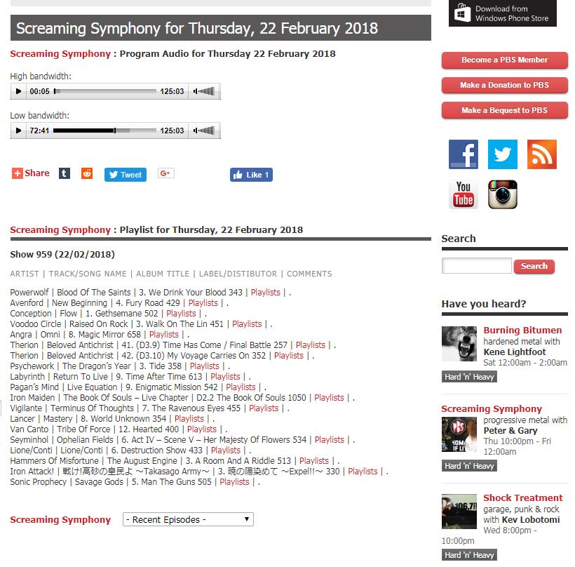 FireShot Capture 24 - Screaming Symphony for Thursday, 22 February