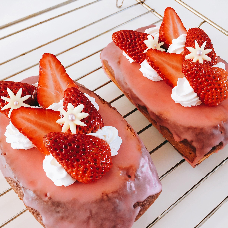 今日、焼いたものVol.39 ホワイトデー、苺のパウンドケーキ