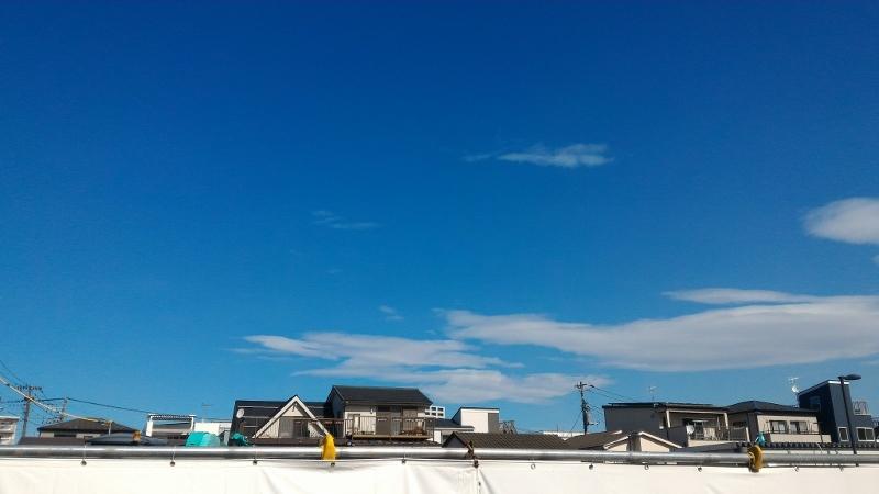 冬の台風一過