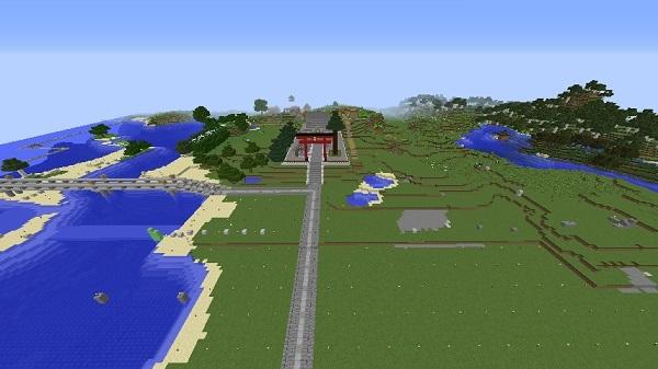 600.337、橋・神社建設後