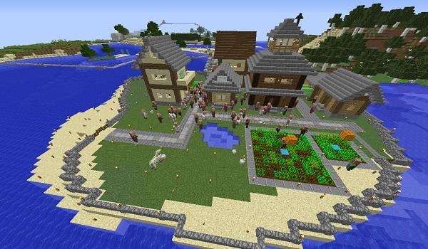 600.350、島村へ村人移住させました