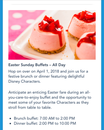easter sunday buffets